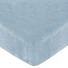 BBB - $20 - image of Sweet Jojo Designs Soho Collection Fitted Crib Sheet in Blue Microsuede