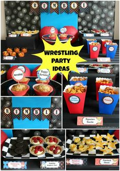 wwe birthday party decor camden 39 s birthday pinterest. Black Bedroom Furniture Sets. Home Design Ideas