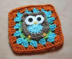 Owl granny square