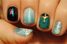 Elsa Frozen nails