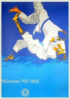 Jiu Jitsu Poster Vintage Martial Arts Print Sport Home Decor Taekwondo, Jiu Jitsu, Olympic Judo, Olympic Games, Helmut Schmid, Olympia, 1972 Olympics, Summer Olympics, Volleyball Posters