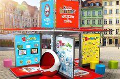 Das Ü-Ei auf Tour. Interaktiver Museumswürfel ist in elf deutschen Städten zu sehen. Das mobile Museum bietet Spannung, Spiel und Spaß für die ganze Familie. Foto: djd/Ferrero