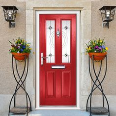 Exterior virtuoso clifton bellini composite door is shown in red but is available in a range of colours, great quality and affordable. #compositedoor #securedbydesigndoor #externaldoor