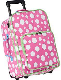 Rockland Perfect Ensemble Pink Dot 3-piece Expandable Luggage Set ...