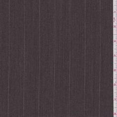 Raisin Brown Stripe Wool Suiting #24149