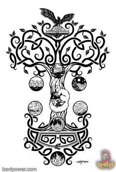 Yggdrasil Viking Tree of Life: The most complicated Viking symbol – Norse Mythology-Vikings-Tattoo Viking Tattoo Symbol, Norse Tattoo, Celtic Tattoos, Viking Tattoos, Wiccan Tattoos, Inca Tattoo, Indian Tattoos, Yggdrasil Tattoo, Norse Symbols
