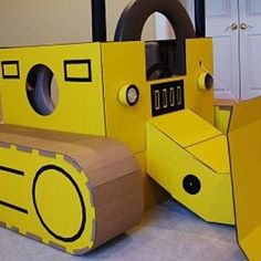 look at this cardboard construction truck!!! several great ideas here