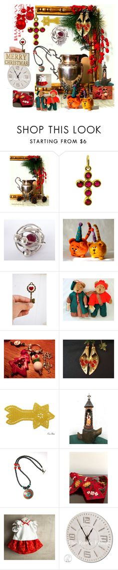 """""""It's Christmas Time"""" by anna-recycle ❤ liked on Polyvore"""