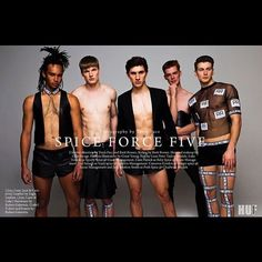 """the SPICE GIRLS are BOYS and they are wearing OUR CLOTHES ⚽️ """"SPICE FORCE FIVE"""" for @hufmagazine click by @trentpacephoto hamu by @theolliesavage styled by @brett_bowen models ⚽️@luke_toniolo as @melaniecmusic  @liam.jr.patrick as @emmaleebunton  @jojoamaah as @officialmelb  @camgordon_ as @therealgerihalliwell and  @jackstrattonsmith as @victoriabeckham  SO MUCH LOVE FOR THIS EDITORIAL AND FOR BEIGN PART OF IT! Thanks!! #rubengalarreta #galarretaboy #thegypsyarmy..."""