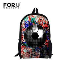Cool Children School Bags 3D Ball Print Shoulder Schoolbag for High Primary School Boys Kids Bookbag Mochila Escolar