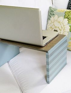 Never be without a portable desk again with this great DIY tutorial! http://www.rustoleum.com/project-catalog/office/laptop-desk/?utm_content=bufferc7236&utm_medium=social&utm_source=pinterest.com&utm_campaign=buffer#_a5y_p=2629947