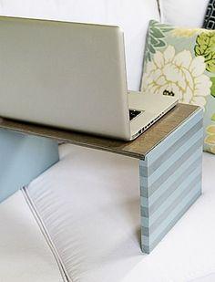 Never be without a portable desk again with this great DIY tutorial! http://www.rustoleum.com/project-catalog/office/laptop-desk/?utm_content=bufferc7236&utm_medium=social&utm_source=pinterest.com&utm_campaign=buffer#_a5y_p=2629947