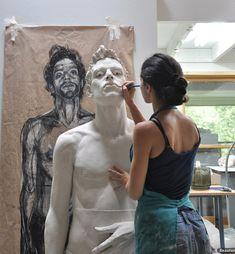 Juxtapoz Magazine - Cristina Córdova's Ceramic Figures Ceramic Figures, Ceramic Art, Atelier D Art, Creation Art, Oeuvre D'art, Art Studios, Artist At Work, Sculpture Art, Fashion Art