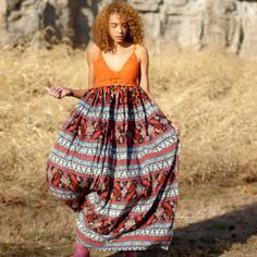 Custom Bohemian maxi dress crochet cotton boho by TheLookFactory