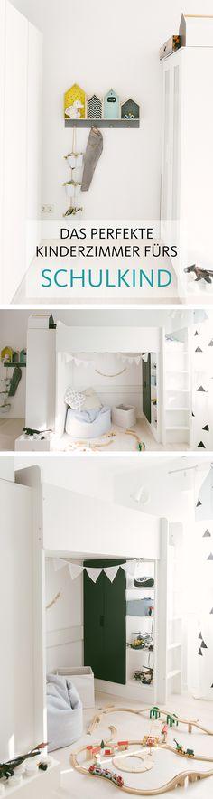 Ein wunderschön eingerichtetes Kinderzimmer für das Schulkind -> die ganze Wohnstory auf roomido.com #roomido #katjaheil #antonsganzewelt #interior #schule #schulkind