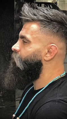 View the best mens hairstyles from Charlemagne Premium male. View the best mens hairstyles from Charlemagne Premium male grooming and beard styling. We love the sexy looks using pomades, cla. Long Beard Styles, Beard Styles For Men, Hair And Beard Styles, Hair Styles, Mens Hairstyles With Beard, Haircuts For Men, Black Hairstyles, Curly Hairstyles, Great Beards