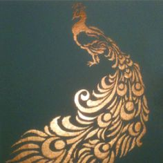 Color idea. Solid with gold on to p (Peacock stencil)