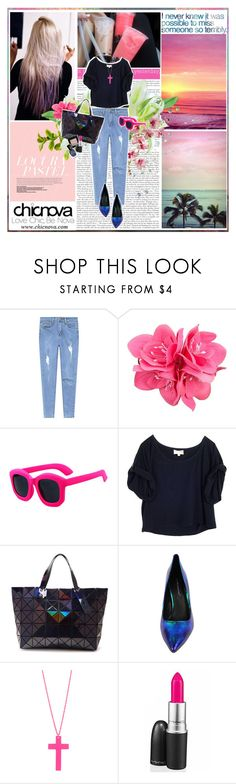 """""""So, so you think you can tell Heaven from Hell, Blue skies from pain."""" by aniael ❤ liked on Polyvore featuring Prada, KEEP ME, John Lewis, Elizabeth and James, Chicnova Fashion, BCBGeneration, Forever 21, Sweet and Sour, MAC Cosmetics and Deborah Lippmann"""