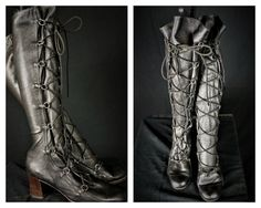 Italian Glove Leather Lace Up Boots Sz 9 / by HippieGypsyBoutique
