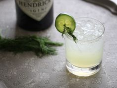 Cucumber and fresh dill work wonderfully with Hendrick's gin and lime juice in this refreshing cocktail.