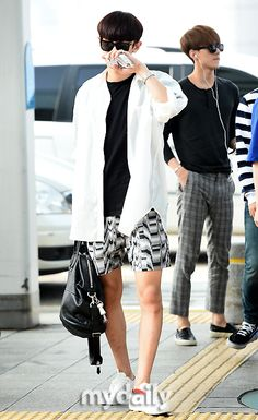 140727- EXO Park Chanyeol (ft. Oh Sehun) @ Incheon Airport to Changsha Airport #exok #men #fashion #style #kpop