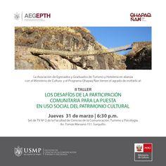 ¿Sabías que los senderos del Qhapaq Ñan empezaron a construirse hace 2 mil años? Conoce más sobre este gran camino inca en el taller organizado por la Asociación de Egresados y Graduados de Turismo y Hotelería.