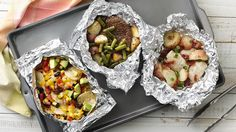 How to Rock Foil Packs  Fill. Fold. Grill. Our go-to summer dinner is delicious and involves zero cleanup. Win-win!