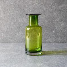 Elsa Green Glass Vase Looking Stunning, Flower Vases, Glass Vase, Modern Design, Artisan, Display, Ceramics, Kale, Green
