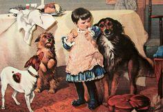 """Charity Begins At Home"" by Charles Burton Barber (1845 – 1894, English)"