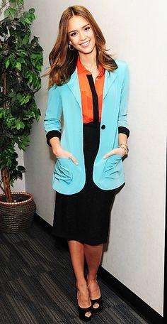 Colorblocking - Jessica Alba - Dolce & Gabbana