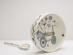 "Vanessa Anastasopoulou ,ceramic bowl, "" Stall"", 38X8cm"