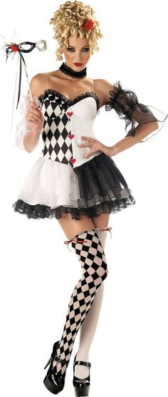 Le Belle Harlequin Costume for Adults - Party City. - I like the look. Maybe scary harlequin?