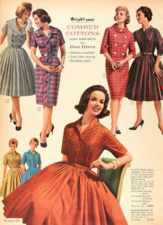 Building a Wardrobe 1960s Outfits, Pin Up Outfits, Vintage Outfits, Vintage 1950s Dresses, Vintage Skirt, 1960s Fashion, Vintage Fashion, 20th Century Fashion, Fashion Advertising