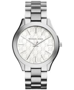Michael Kors Women's Slim Runway Stainless Steel Bracelet Watch 42mm MK3371 - A Macy's Exclusive | macys.com