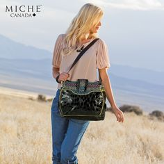Floral. Bold. Free-spirited. That's Abbie. Do you already have her in your collection or is she on your wish-list?  *Miche Canada* #michecanada #michefashion #fashion #style #purses #handbags #accessories