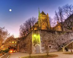 Saint-pierre Cathedral In Geneva, Switzerland, Hdr by Elenarts - Elena Duvernay photo Places In Switzerland, Geneva Switzerland, Geneva City, Famous Places, Hdr, Travel Photos, Fine Art America, Cathedral, Mansions