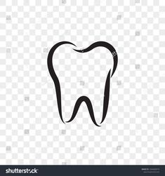 Tooth logo icon for dentist or stomatology dental care design template. Vector isolated black outline line tooth symbol for dentistry clinic or dentist medical center and toothpaste package design Tooth Template, Teeth Logo, Clinic Logo, Dental Art, Teeth Care, Medical Center, Logo Design, Ad Design, Dentistry