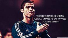 Wasza miłość sprawia, że staję się silniejszy, wasza nienawiść sprawia, że • Cristiano Ronaldo jest nie do zatrzymania • Zobacz >> #ronaldo #cristianoronaldo #football #soccer #sports #pilkanozna #quotes