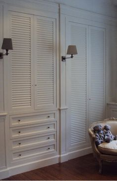 Idea :: Louver Doors for Closets