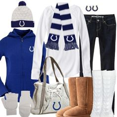 My birthday is coming up.Indianapolis Colts Winter Fashion I guess I will end up wearing a lot of blue and white this year! Colts Cheerleaders, Nfl Colts, Football, Sport Outfits, Winter Outfits, Cute Outfits, Manado, Indianapolis Colts, Autumn Winter Fashion
