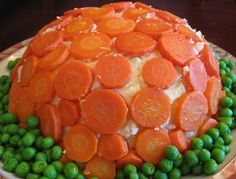 mashed potatoes, peas, and carrots-- almost like Mama always served-- just in a more fun form  #ultimatethanksgiving