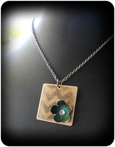 Chevron Patina Pendant by CoccoJewelry on Etsy, $17.50