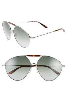 ffd2f0e3a8779 Valentino  Runway  62mm Aviator Sunglasses available at  Nordstrom Wardrobe  Staples
