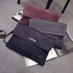 2016新款歐美時尚磨砂菱格手拿包小包信封包單肩斜挎包潮流女包包