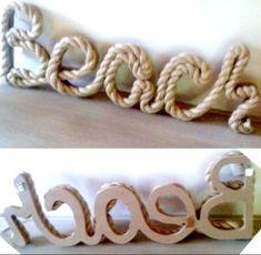 Cuerda náutica playa de Lago House Cottage Decoración Pared Signo palabra Arte Colgante