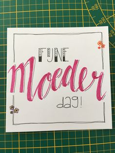 Moederdag Mothersday Cards, Vintage Cartoon, Diy Cards, Silhouette Cameo, Happy Birthday, Bullet Journal, Calligraphy, Letters, Sayings