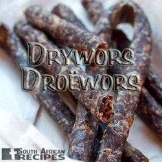 How to make Droë Wors / Dry Wors at home. An easy recipe for this delicious South African snack! Similar to European dried sausage but with African spices.