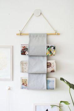 Porta revistas de parede