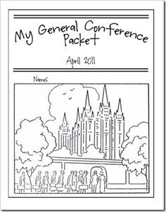 general conference ideas for kids and links to these packets on Food Storage and Beyond.