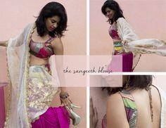 Sangeeth Blouse- mehendi blouse- sexy back